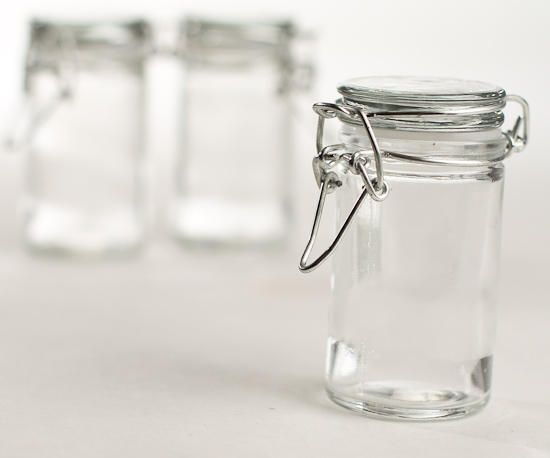 Hinged lid glass favor jars favour jars favors and jar for What can i do with glass bottles