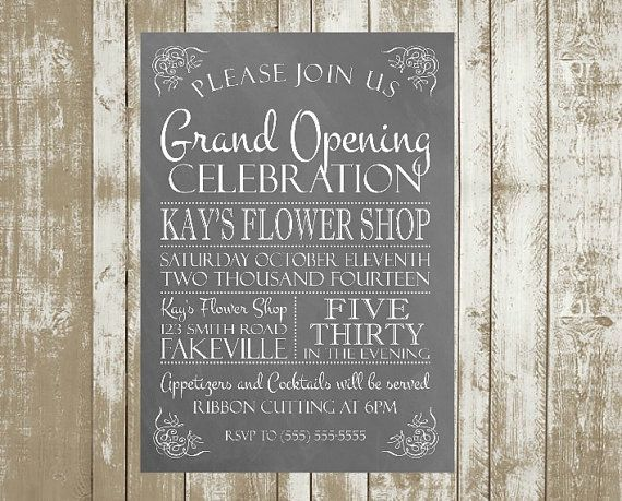 Printable Customized Grand Opening or Open by BDoodlesDesigns - Retail Management Cover Letter