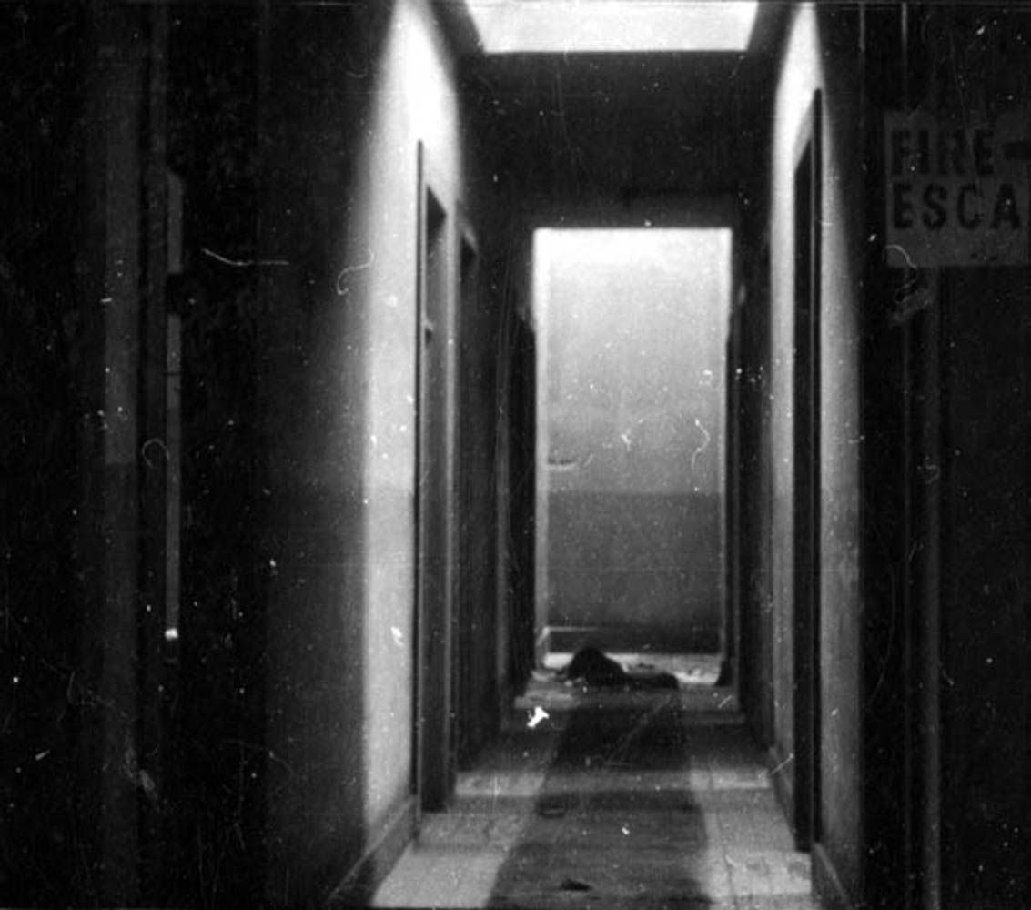 A hallway inside the Pico House in 1955  Pretty spooky