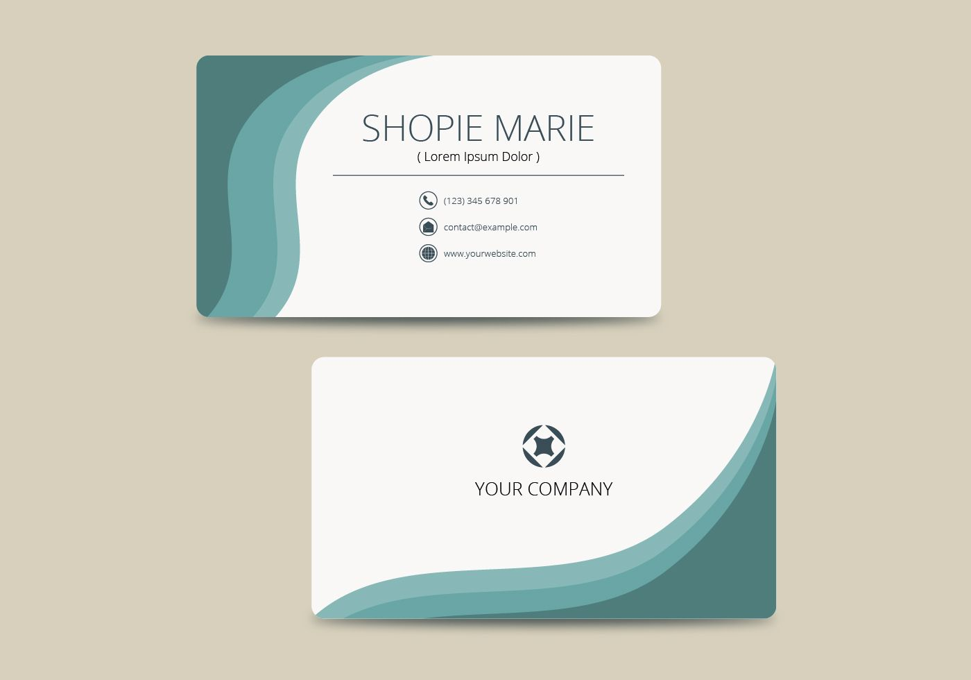Teal Business Card Template Vector Download Free Vectors With Regar Free Business Card Templates Business Card Template Word Business Card Template Photoshop