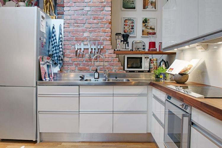 muebles de cocina en blanco y acero