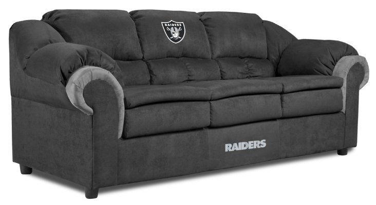 Nfl Oakland Raiders Pub Sofa Amazon Sports Amp Outdoors Nfl Oakland Raiders