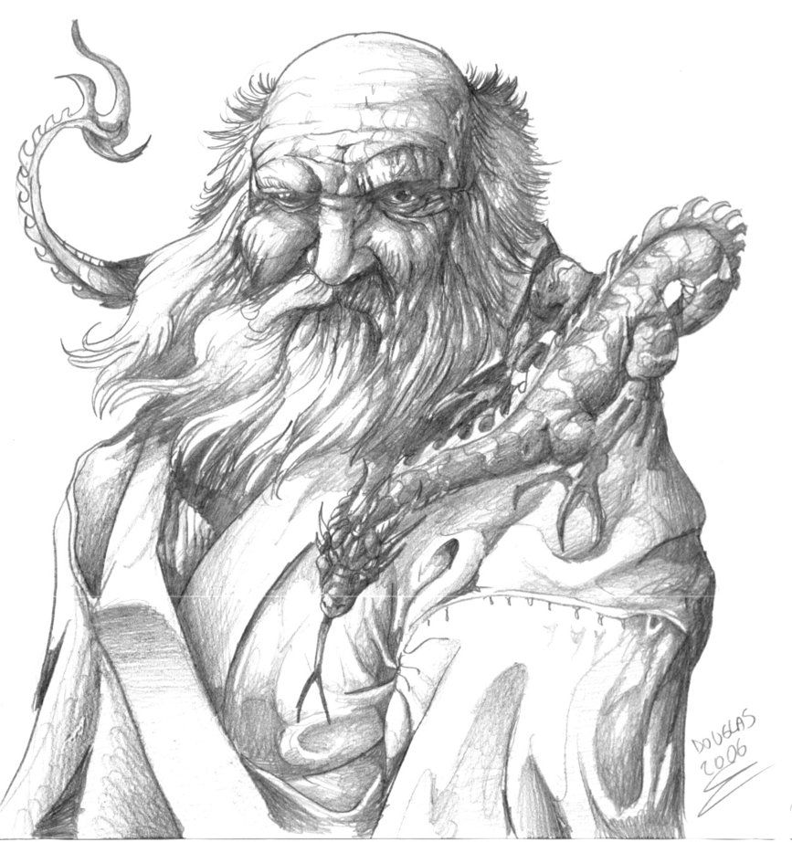 real sketched drawings wizard of dragons by douglasdraco on