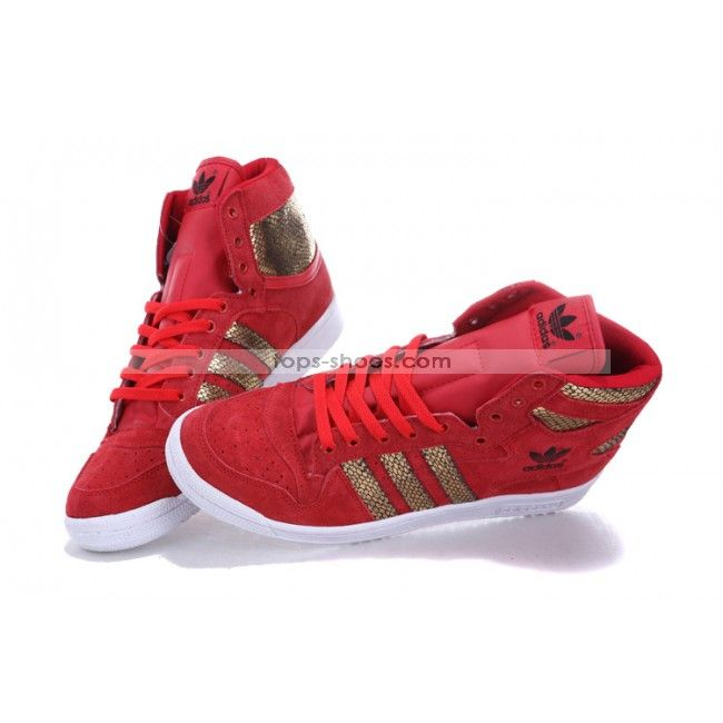 Adidas High Top Shoes for Women | Adidas Shoes High Tops Gold Snake Scale  Red for