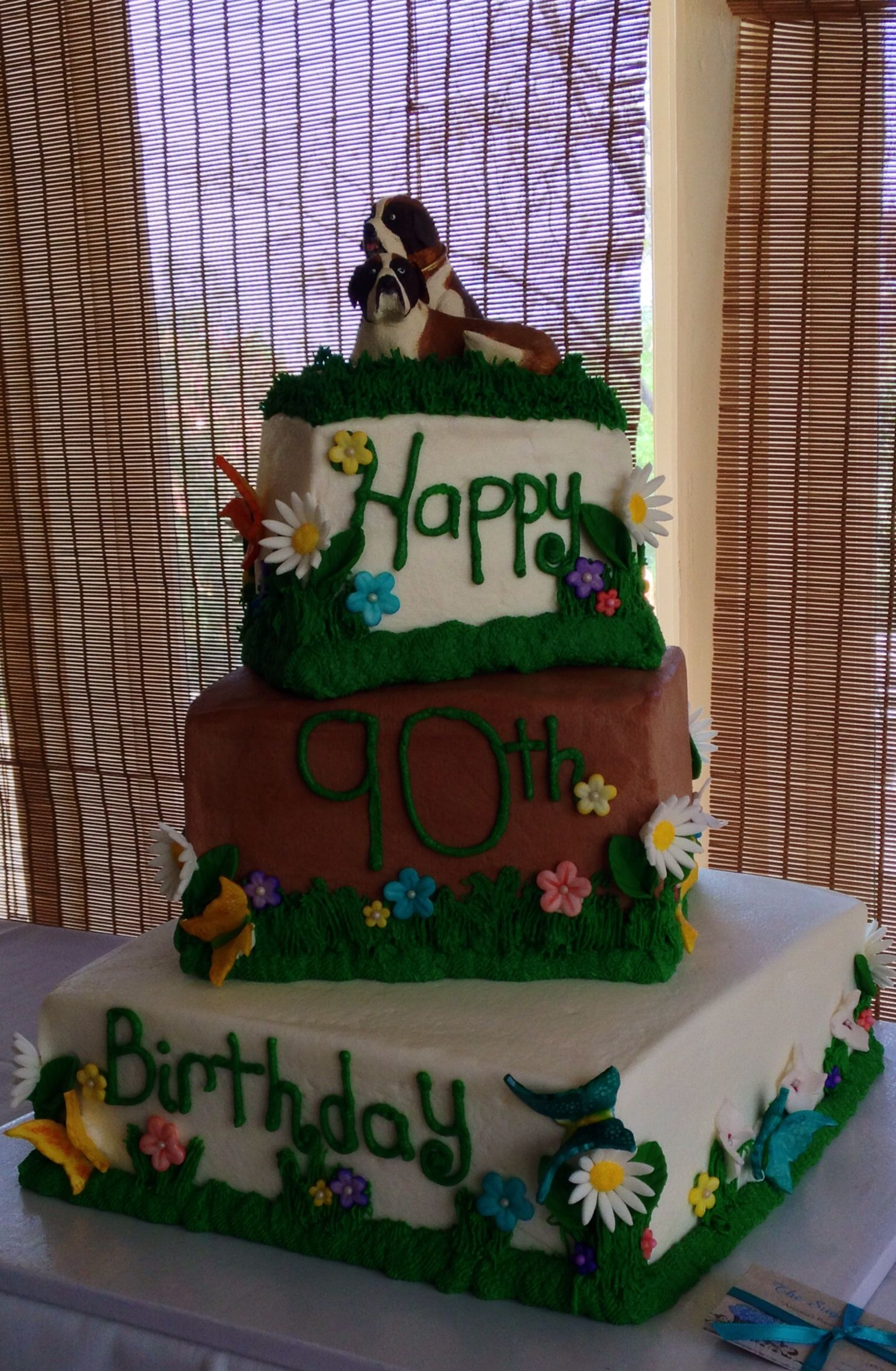 Springtime Cake with St Bernards for a 90th birthday party hosted