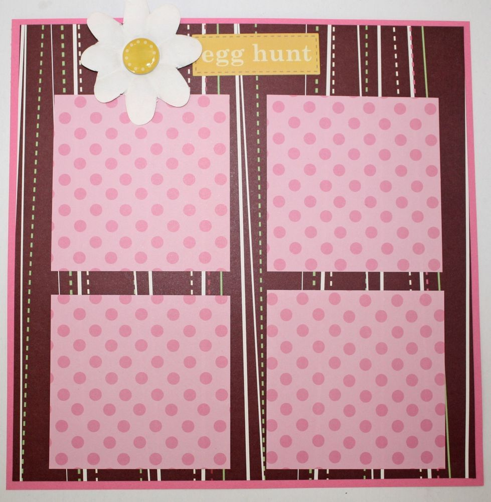 CLEARANCE SALE!! ~ Happy Easter Pre-made Scrapbooking Page 8x8 Scrapbook Mini Album