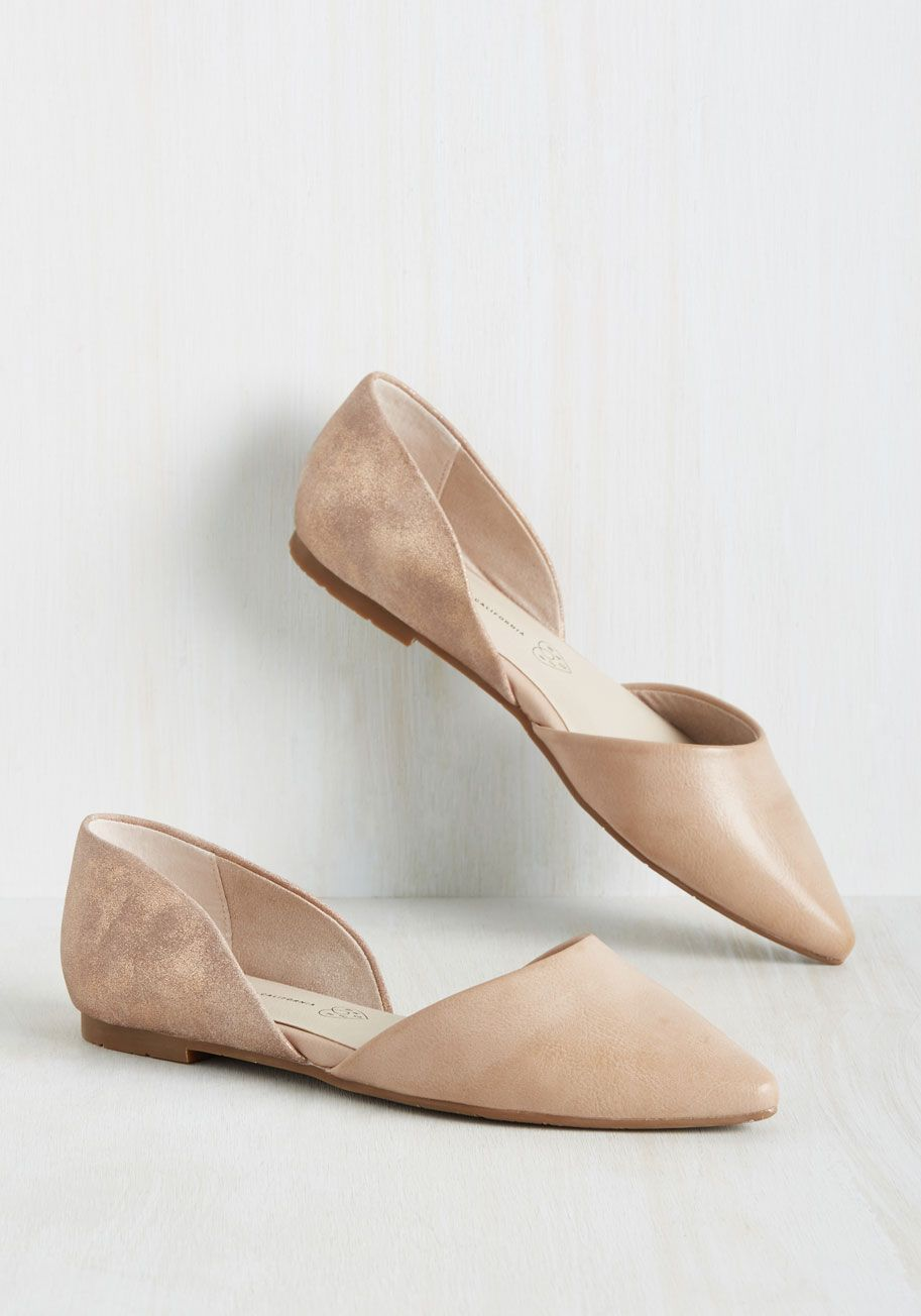 Miss Fancy Prance Flat in Rose Gold and Beige by BC Footwear - Pink ...