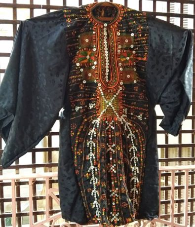 BLACK EMBROIDERED dress!! Rare teqniche embroidery Interesting pattern Luxurious extra rare embroidery Collectible dress Traditional shirt