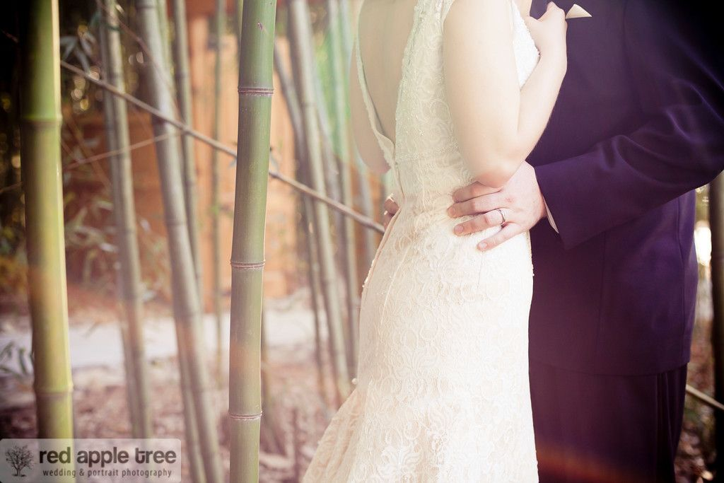 love the romantic lace detail on this wedding dress