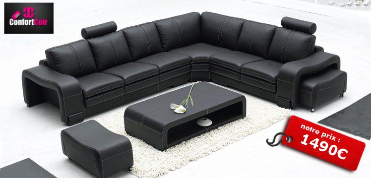 Etonnant Prix Canape Cuir Leather Corner Sofa Sectional Sofa Modern Sofa Sectional