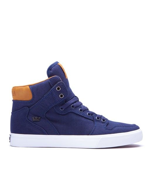 Supra Vaider (navy brown-white). Available in sizes 13-15.  size13  size14   size15  bigfeet  bigshoes  vans 89f327542d81