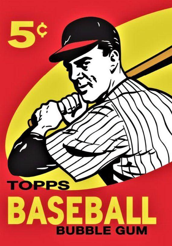 1959 Topps Baseball Cards Print Vintage Baseball Poster Etsy In 2021 Baseball Cards Baseball Posters Vintage Baseball