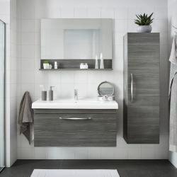 Badezimmer Grau Unterschrank Spiegelschrank Val In 2020