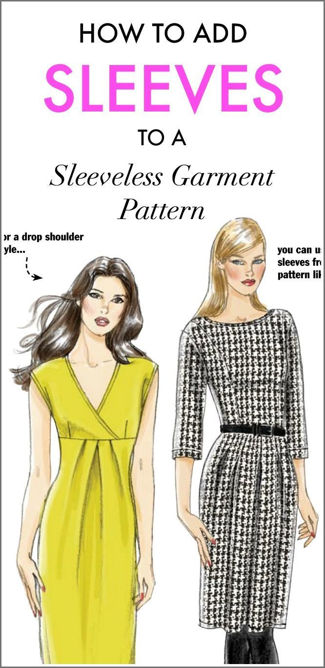 How to Add Sleeves to a Sleeveless Pattern | Sewing Tutorials ...