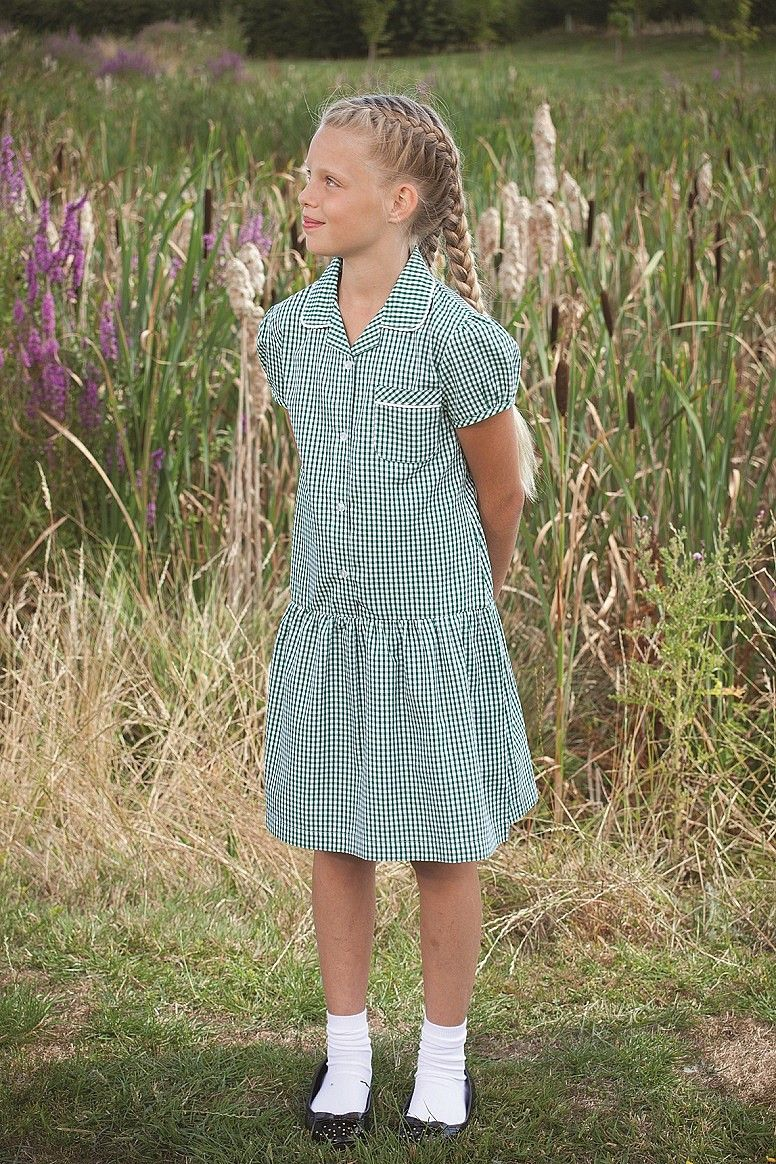 Gingham summer school uniform dress for girls | Pro & Con ~ School ...