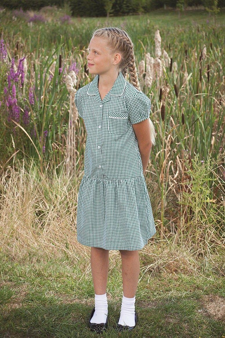 8e6273a6fd5 Gingham summer school uniform dress for girls