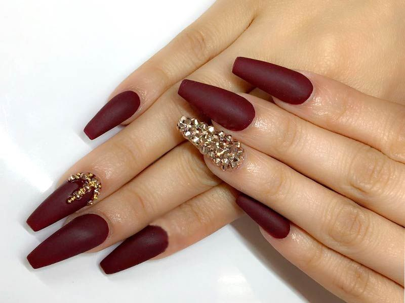 21 Burgundy Matte Nails Designs That Drop Your Jaw Off Nails