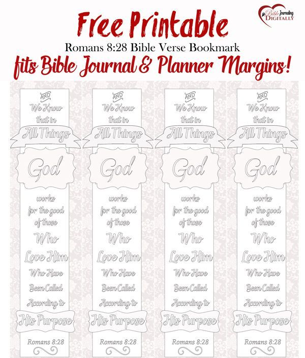 Free Bible Verse Coloring Bookmark fits Bible Journal & Planner ...