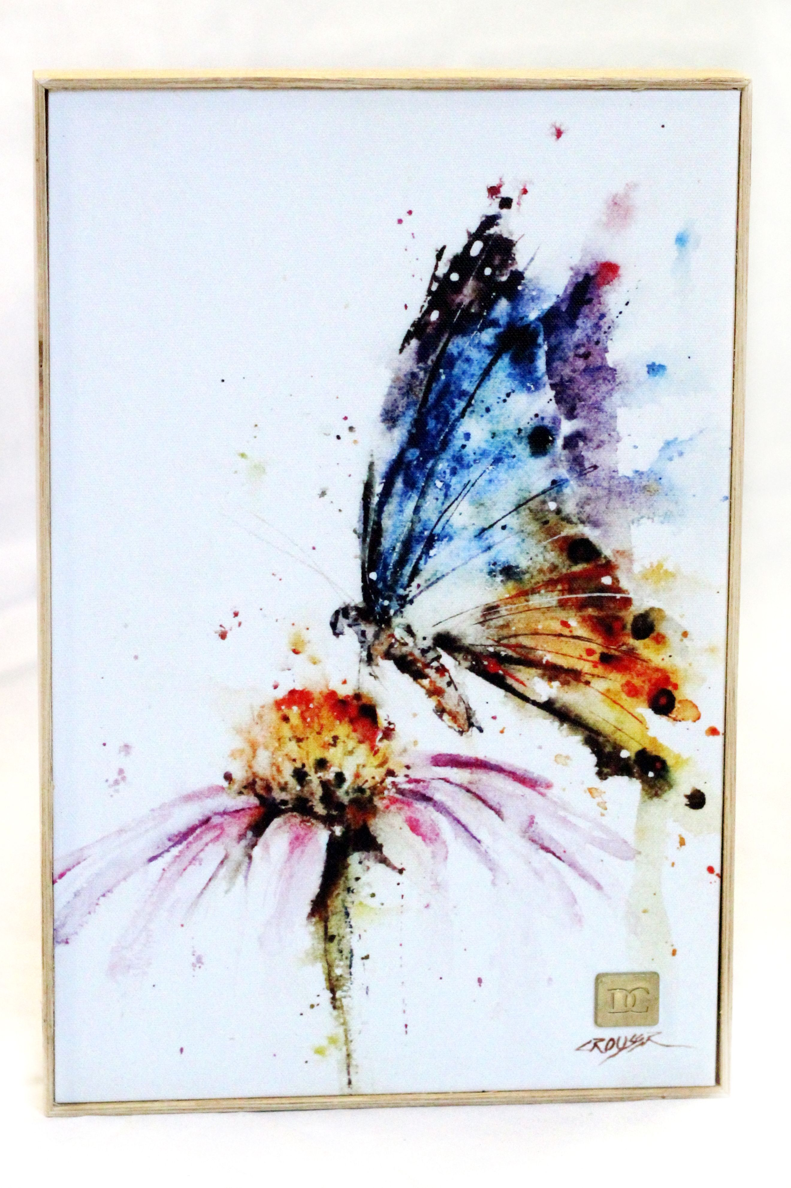 Garden visitor butterfly dean crouser prints mountain home for Basic painting