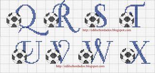 Edilse Bordados: Monogramas em ponto cruz!!!