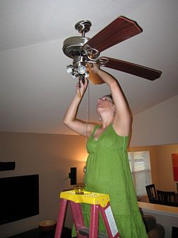 Take Down Or Remove A Ceiling Fan With