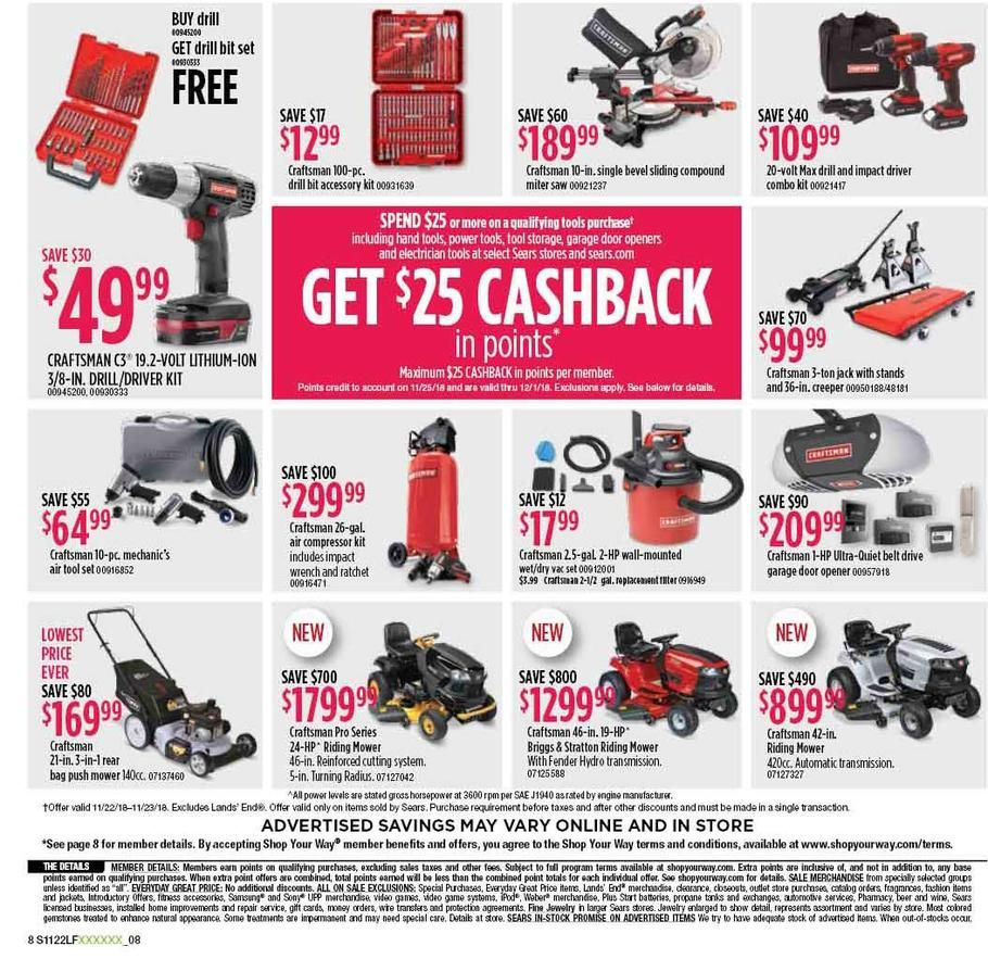 Sears Black Friday 2018 Ads Scan Deals And Sales See The Sears