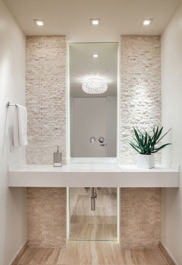 Ideas para decorar el baño con plantas | BAÑOS | Bathroom, Powder ...