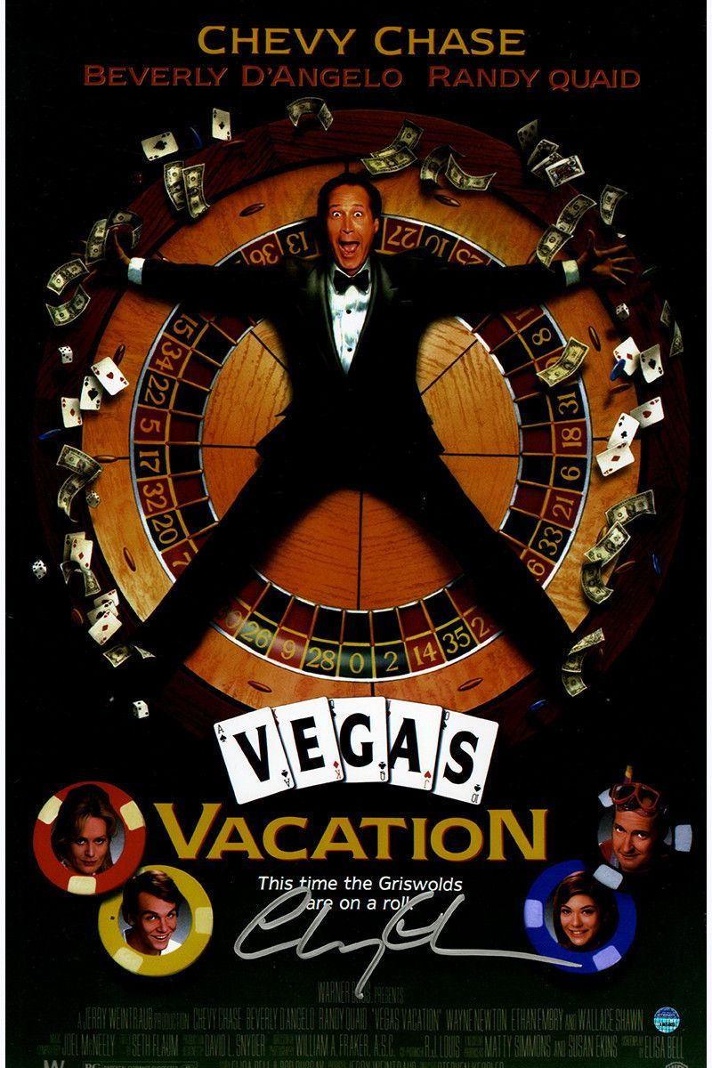 Chevy Vacation Signed Poster Chase 11x17 Vegas National Posters Movie Products Y Lampoons