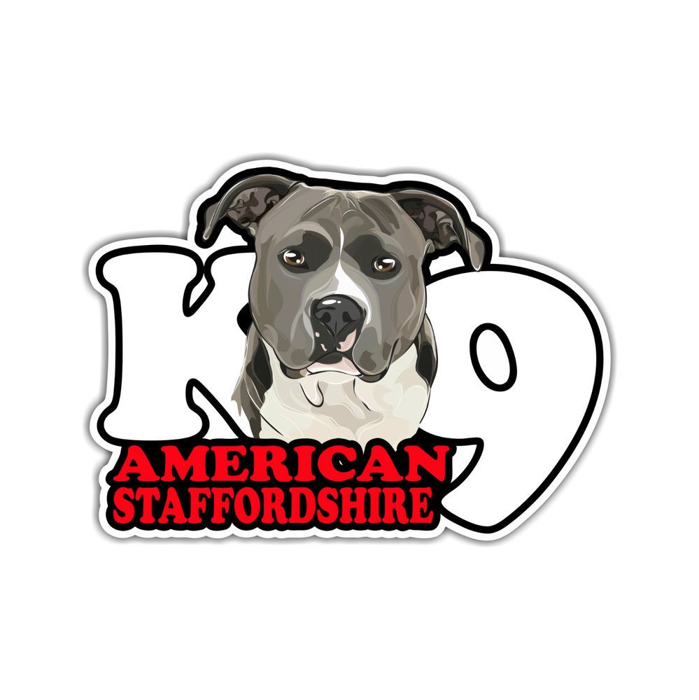 auto aufkleber sticker american staffordshire k9 hund. Black Bedroom Furniture Sets. Home Design Ideas