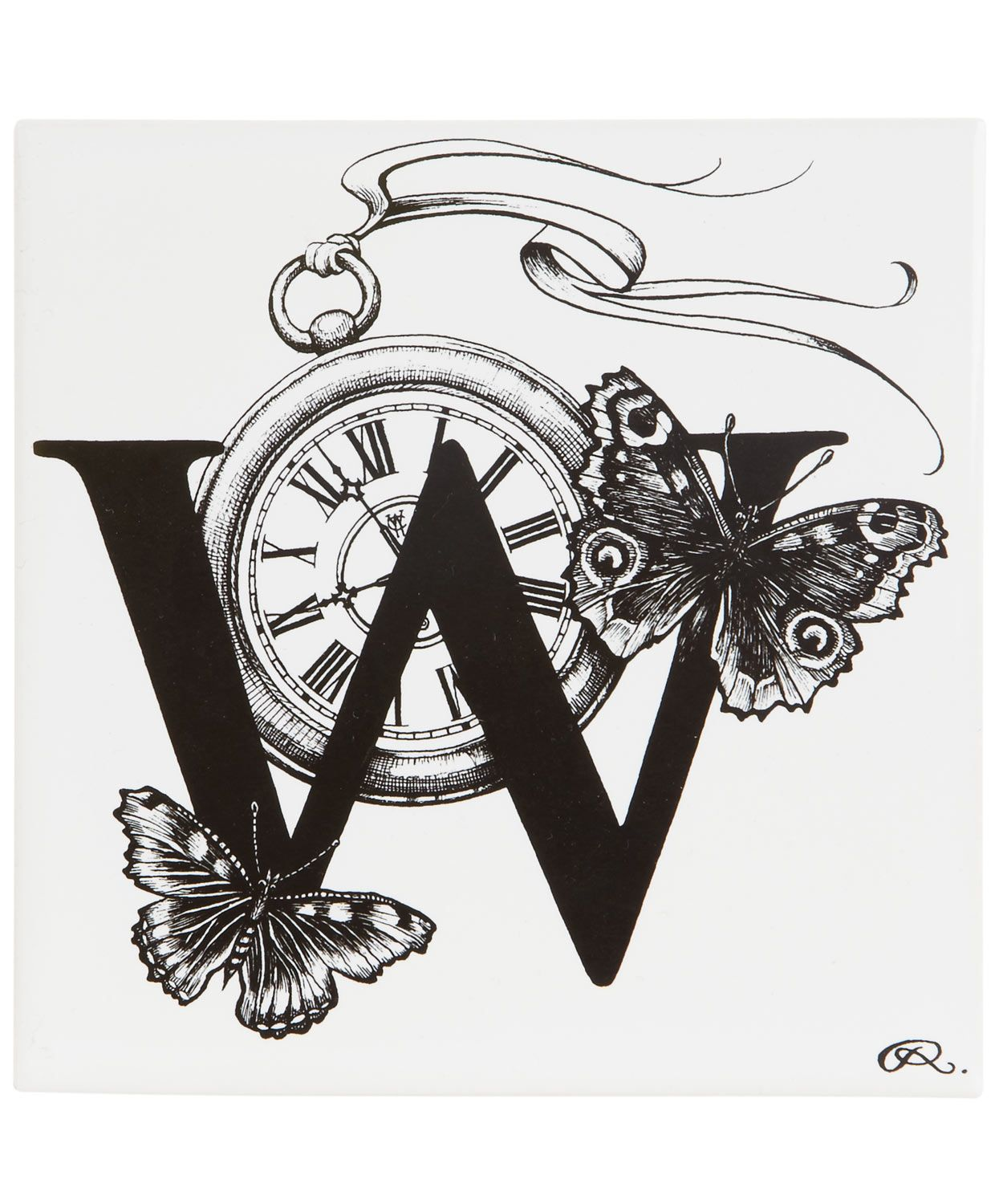 Winged watch letter w tile rory dobner emily pinterest winged watch letter w tile rory dobner doublecrazyfo Gallery