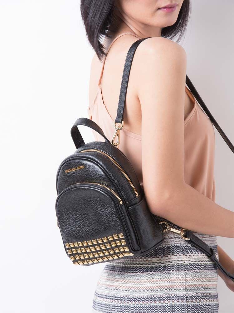 bfe28fe102c9 Abbey Studded Leather Zip Extra Small Backpack Black | Suning ...