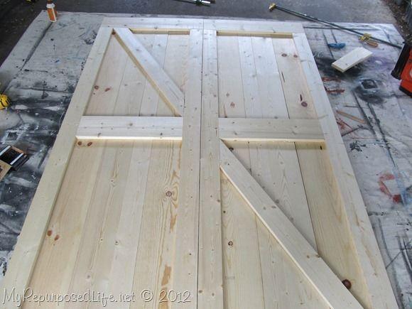 How To Build DIY Barn Doors. With A Huge Doorway Into A Unused Room Off