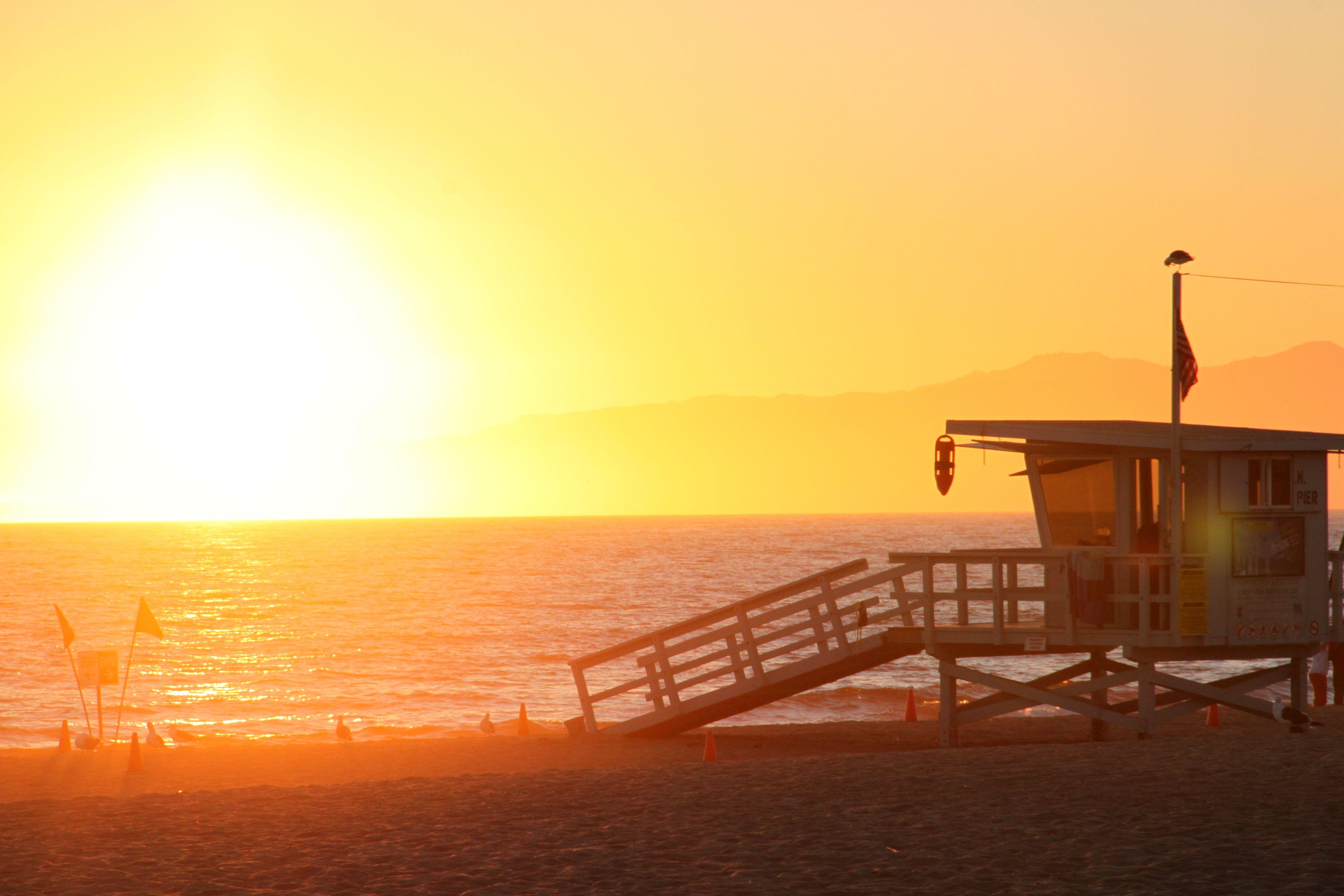 Lake tahoe sunset travel channel pinterest - Sunset At Venice Beach California La Travel California