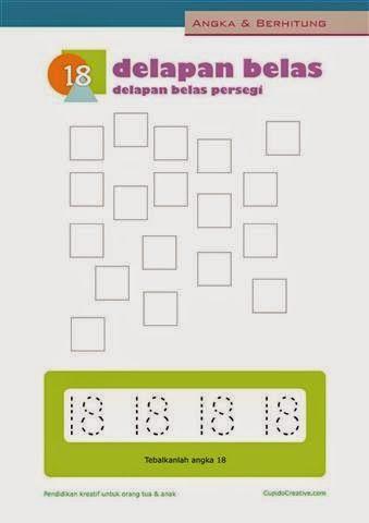 Belajar Berhitung Anak Menulis Mewarnai Angka 11 20 Untuk Paud