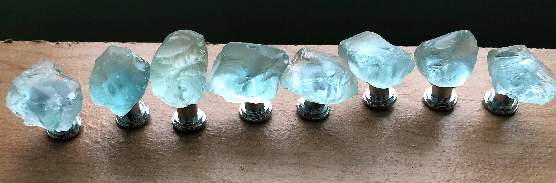 Photo of Sea Glass Nautical Knobs-Petite line, Beach glass knob, sea glass pull, sea glass cabinet knob, nautical & coastal decor, 1″ sea glass knobs