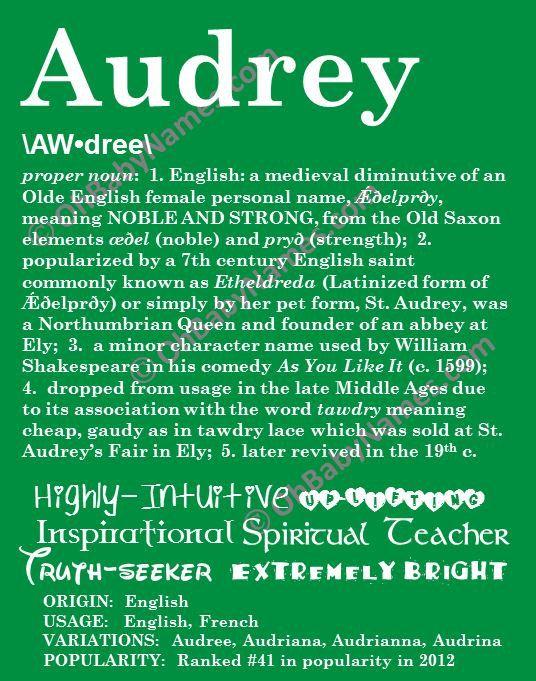 AUDREY+Personalized+Name+Print+/+Typography+Print+/+by+OhBabyNames,+$20.00