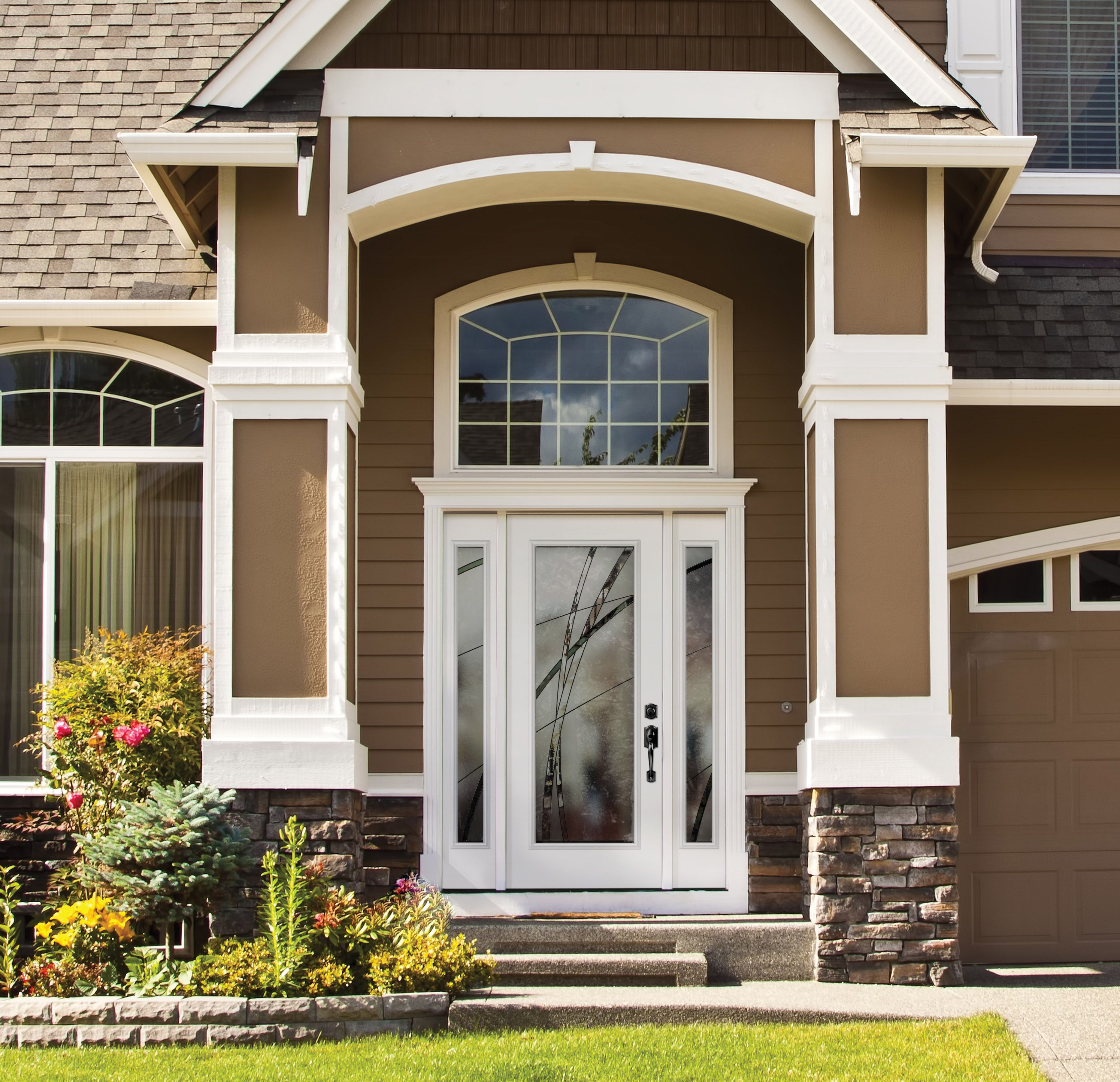 The Belleville smooth door with Kordella full lite glass and ...