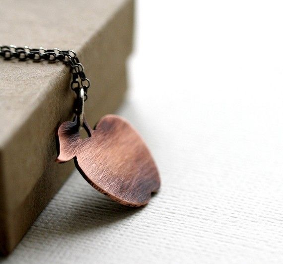 Little Apple Necklace by PeculiarForest on Etsy