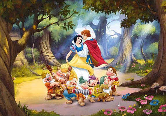 Fotomural Infantil Blanca Nieves Y Los Siete Enanitos Ocupa Toda Una Pared Este Mural Gigante Es I Dibujo De Blancanieves Blancanieves De Disney Blancanieves