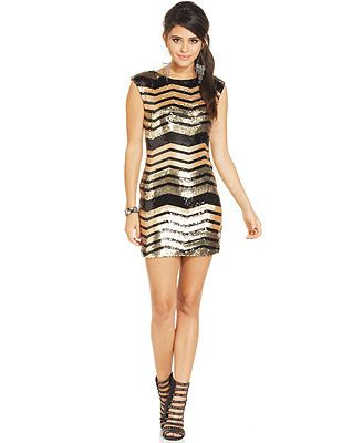 e26f0e09a0 As U Wish Juniors  Sequin Bodycon Dress  MACYS