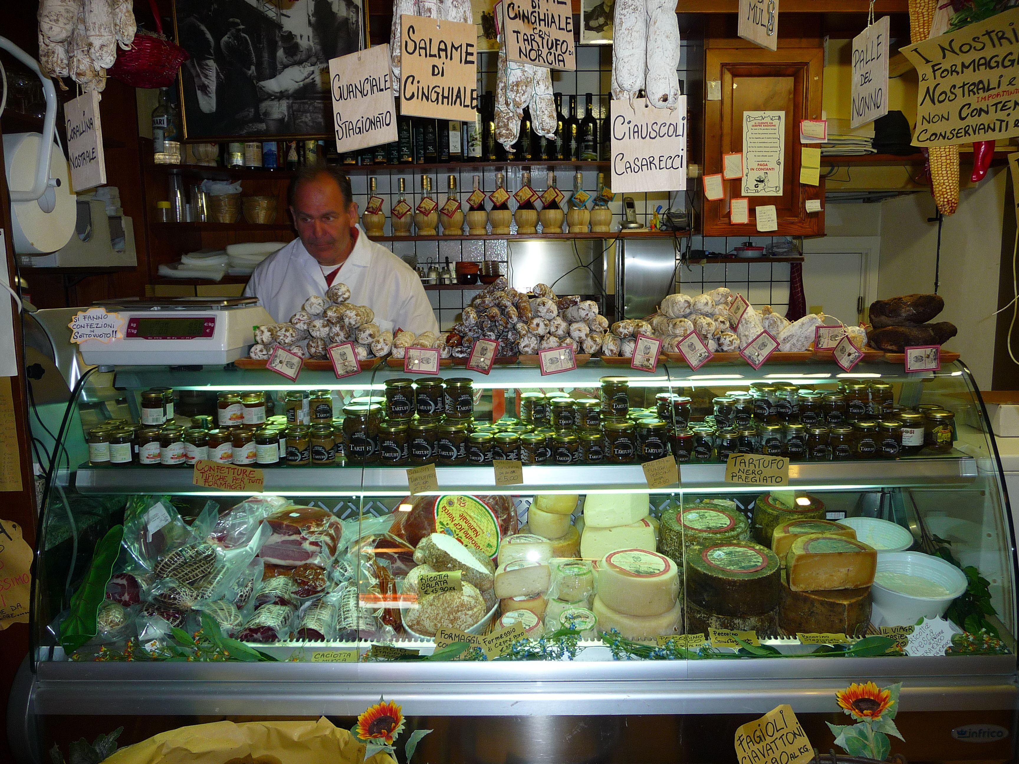 Lovely italian cheese pecorino and salami in - Piano casa marche ...