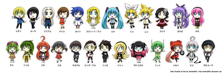 Chibi Vocaloid All Star by Sartika3091.deviantart.com on @deviantART