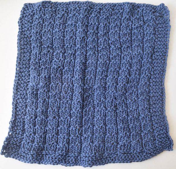 Garter Ridge Stitch Dishcloth Free Knitting Pattern Video Knit
