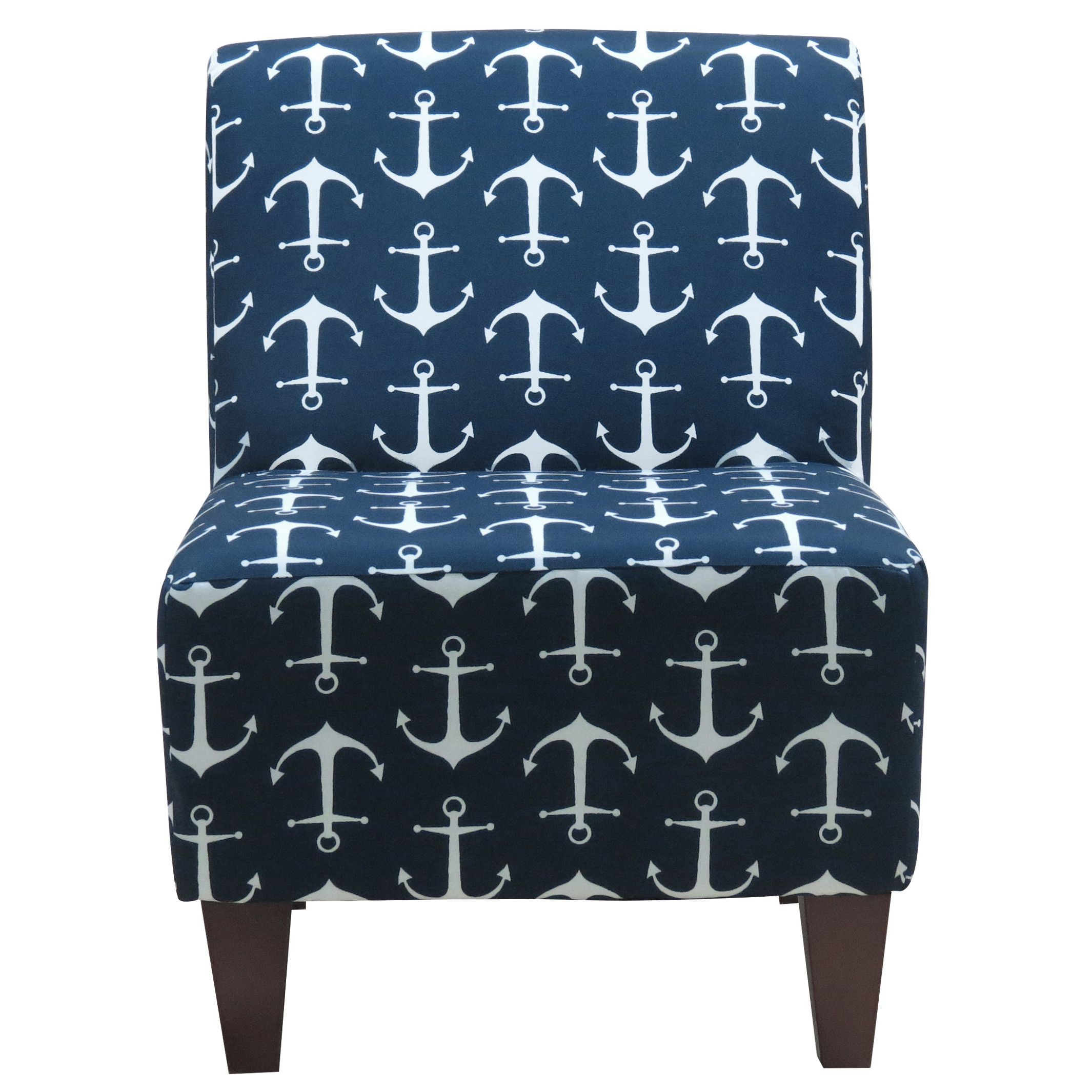 Breakwater Bay Hartly Sailor Anchor Armless Slipper Chair