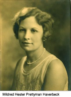 this is a graphic of Mildred Hester Prettyman Haverbeck