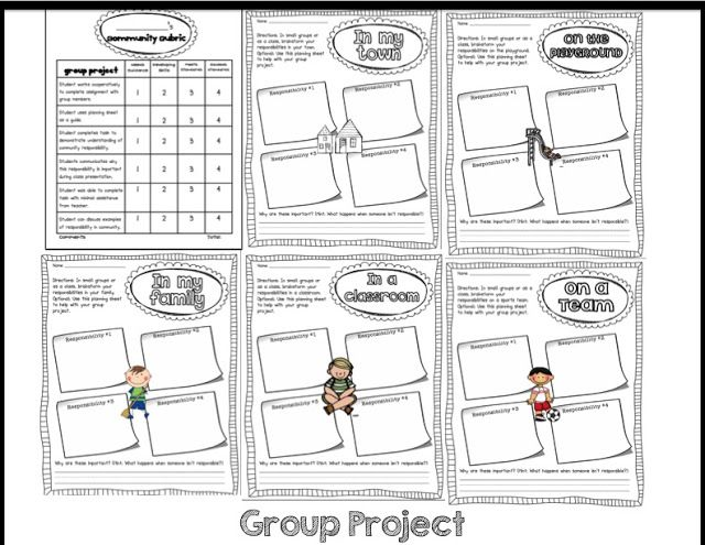 Sarah's First Grade Snippets: Communities Mini Unit