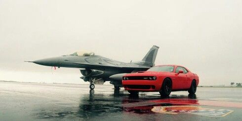Hellcat and F-16 - www.hotrodregal.com