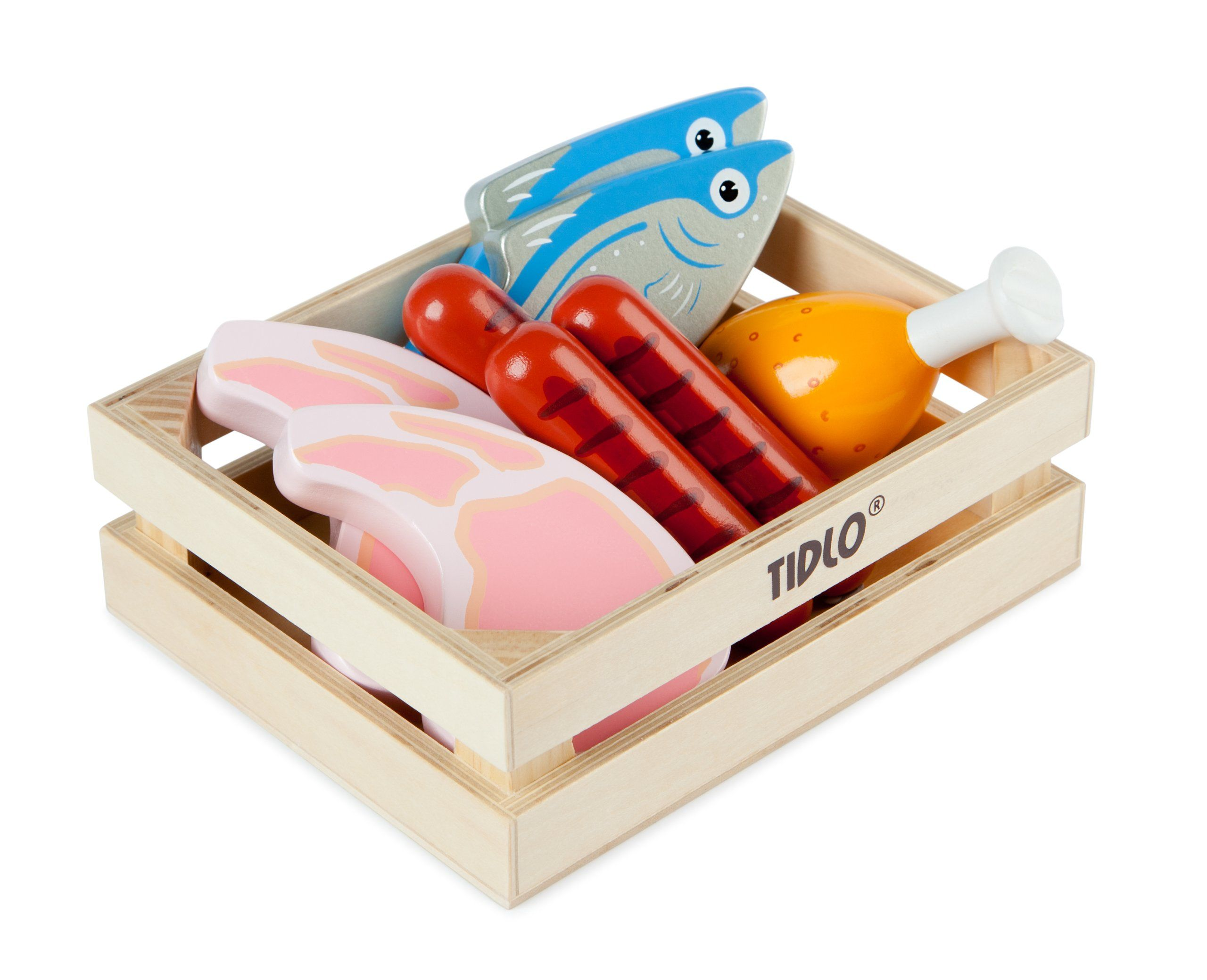 Tidlo Wooden Meat and Fish Amazon.co.uk Toys & Games