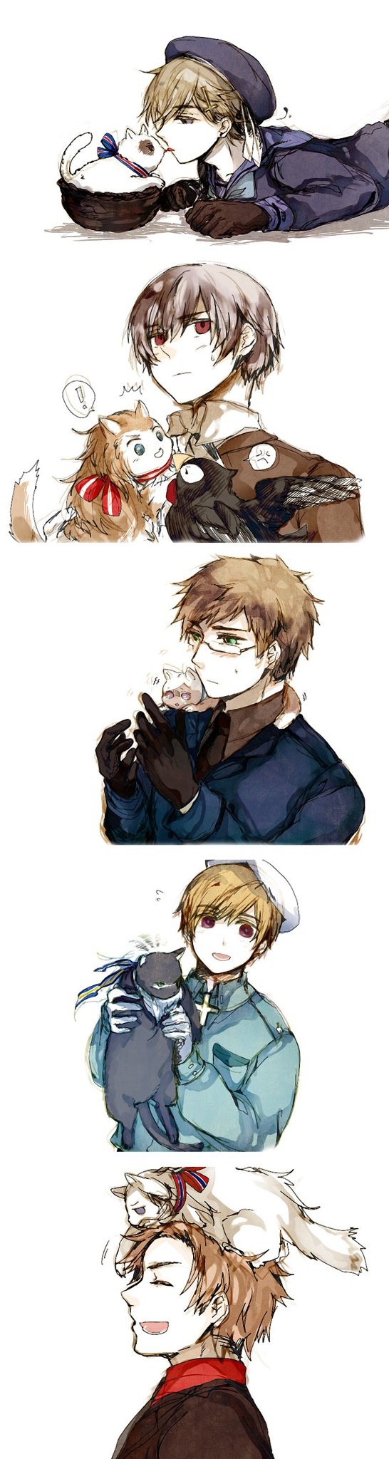 Hetalia Nordics. I love this picture almost as much as the majestical lily flower