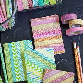 Decorate your notebooks and pencils with pretty washi tape to make these adorable back to school items. Step-by-step tutorial.
